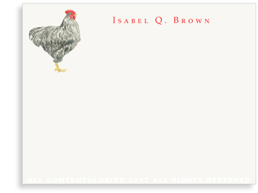 Plymouth Rooster - Flat Note cards
