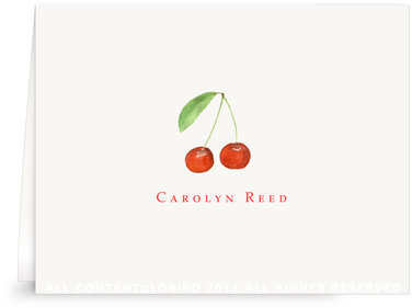 Cherries - Folded Note Cards