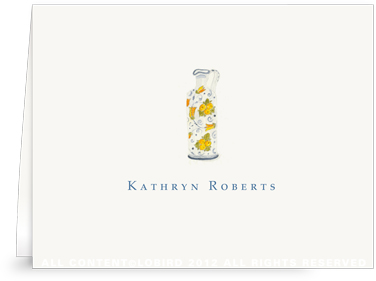 Lemon Italian Oil Pitcher - Folded Note Cards