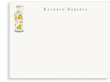 Lemon Italian Oil Pitcher - Flat Note cards