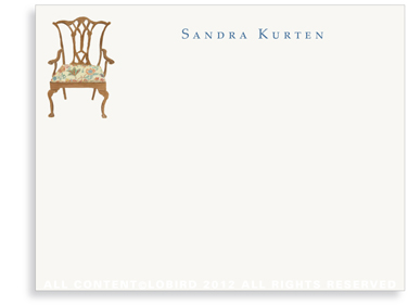 Chippendale Chair - Flat Note cards