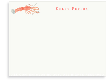 Lobster - Flat Note cards