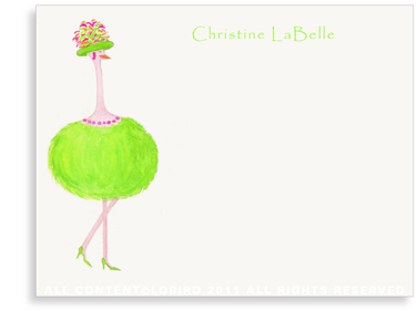 Ostrich - Gabbi - Flat Note Cards
