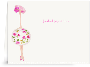 Ostrich -Fleur - Folded Note Cards