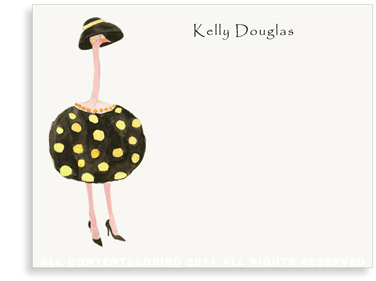 Ostrich - Dottie - Flat Note Cards