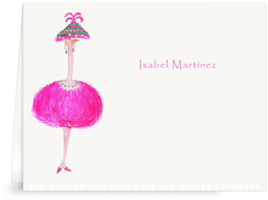 Ostrich-Lulu - Folded Note Cards