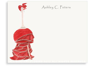 Ostrich - Audrey - Flat Note Cards