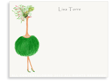 Ostrich - Jacqueline - Flat Note Cards