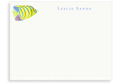 Angel Fish - Flat Note cards