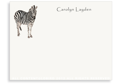 Zebra - Flat Note Cards