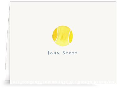 Tennis Ball - Folded Note Cards