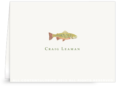 Brook Trout - Folded Note Cards