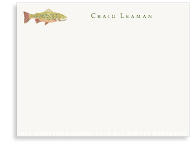 Brook Trout - Flat Note cards