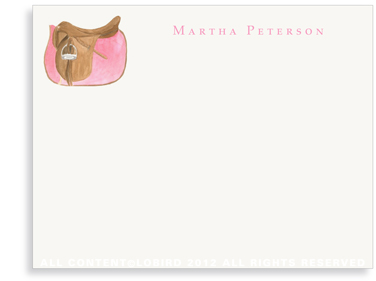 Rose Pink Saddle - Flat Note cards