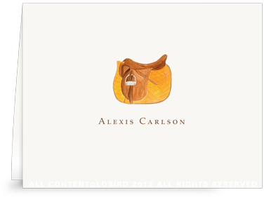 Orange Saddle - Folded Note Cards