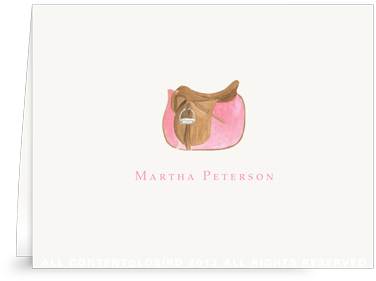 Rose Pink Saddle - Folded Note Cards