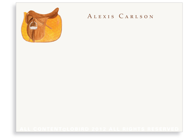 Orange Saddle - Flat Note cards