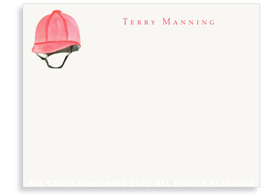 Red Riding Helmet - Flat Note cards