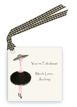 French Ostrich - GiGi - Gift Tags