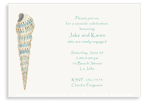 Cone Shell - Invitations