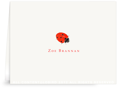 Lady Bug - Folded Note Card