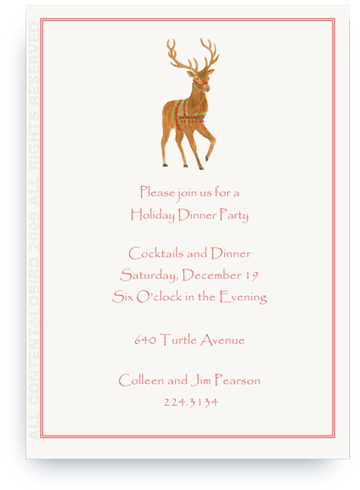 Holiday Reindeer - Invitations