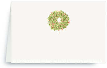 Holiday Wreath - Holiday Place Cards