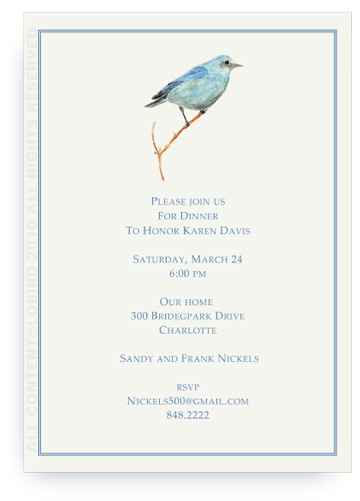 Mountain Blue Bird - Invitations