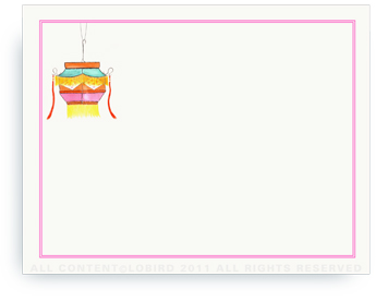 "Festive Lantern - Non-Personalized Note Cards (4.25"" X 5.5"")"
