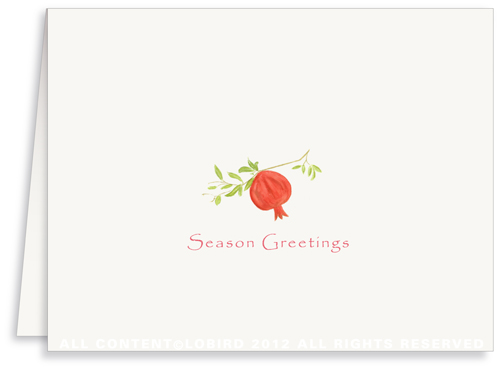 Pomegranate - Holiday Greeting Cards