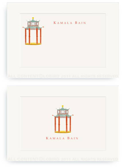 Chinoiserie Pagoda Pavilion - Enclosure Cards