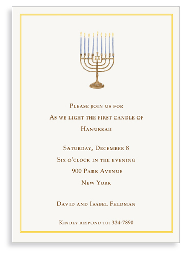 Menorah Invitation