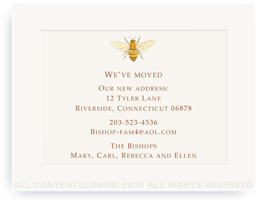 Bee - Moving Announcements