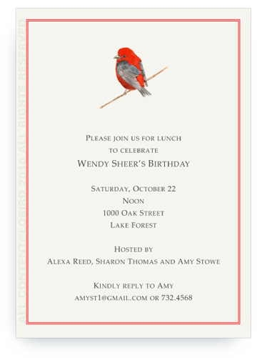 Scarlet Tanager - Invitations