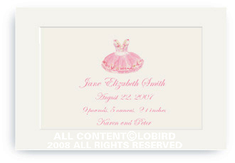 Sugar Plum Ballet Dress - Enclosure Cards