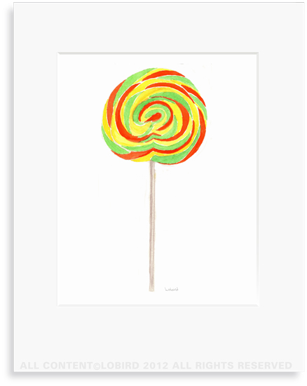 Swirl Lollipop - 8 x 10 Print in 11 x 14 Mat