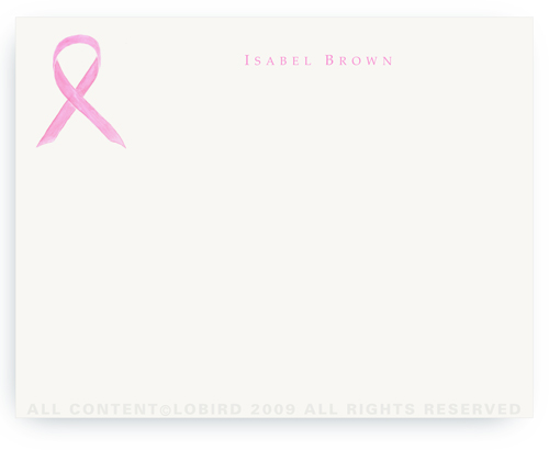 Pink Ribbon - Breast Cancer Awareness Month - Notecards
