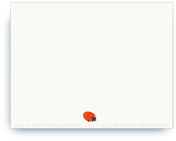 "Tiny Lady Bug - Non-Personalized Note Card (4.25"" X 5.5"")"
