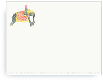 "Princess Riding Elephant - Non-Personalized Note Cards (4.25"" x 5.5"")"