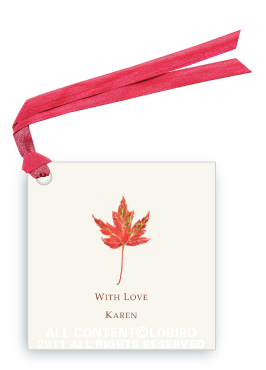 Rustic Red Autumn Leaf - Gift Tags