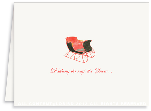 One Horse Sleigh - Holiday Greeting Cards