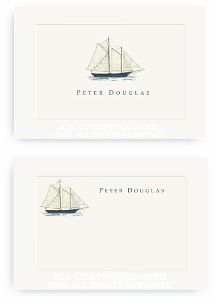 Schooner - Enclosure Cards