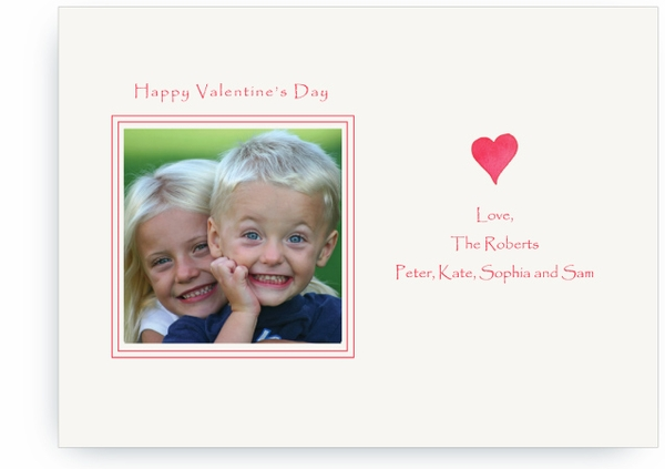 Red Valentine Heart - Photo Valentines Card