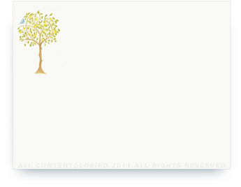 "Lemon Tree with Bird - Non-Personalized Note Cards (4.25"" X 5.5"")"