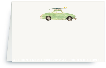 Vintage Surf Car - Place Cards