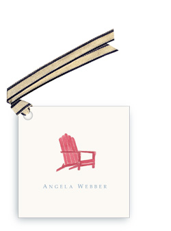 Red Andirondack Chair - Gift Tags