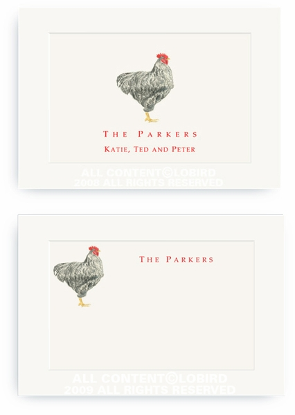 Plymouth Rooster - Enclosure Cards