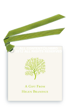 Coral Fan - Lime -Gift Tags