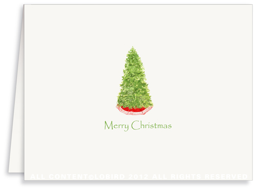 Christmas Tree - Holiday Greeting Card