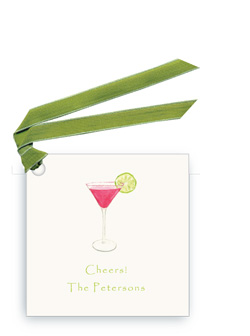 Cosmo with Lime - Gift Tags